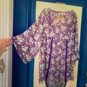 Boho peasant blouse L